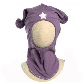Шлем с помпонами (сиреневый)Одежда<br>; Размеры в наличии: 1, 2.<br>