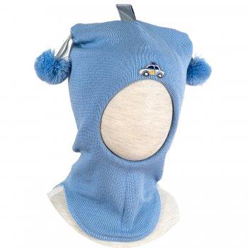 Kivat Шлем (голубой с помпонами и машинкой) kivat шлем малиновый с помпонами и короной