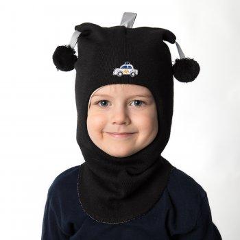 Kivat Шлем (черный с помпонами и машинкой)
