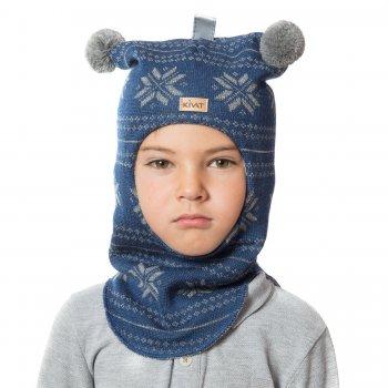 Шлем (синий со снежинками и помпонами)Одежда<br>; Размеры в наличии: 0, 1, 2, 3.<br>
