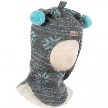 Шлем (бежевый с зелеными снежинками и помпонами)Одежда<br>; Размеры в наличии: 0, 1, 2, 3.<br>