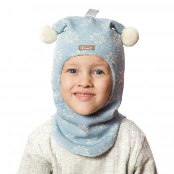 Шлем (бледно-голубой со снежинками и помпонами)Одежда<br>; Размеры в наличии: 0, 1, 2, 3.<br>