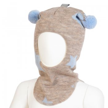 Шлем (бежевый с голубыми звездами) от Kivat, арт: 35751 - Одежда