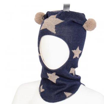 Шлем (синий с серыми звездами)Одежда<br>Описание<br>Шлемы Киват очень теплые и подойдут на самые лютые морозы. Специальные вставки с утеплителем в области ушек и лба. Отличная посадка по голове и оригинальный дизайн. Светоотражающие вставки для безопасности. <br>Характеристики: <br>Верх: 100% шерсть<br>Подкладка: 100% хлопок<br>Производитель: Kivat, Финляндия<br>Коллекция Осень/Зима 2017<br>Модель производится в размерах 0-3<br>Страна производства: Финляндия<br>Температурный режим<br>От 0 до -20 градусов<br>; Размеры в наличии: 0, 1, 2, 3.<br>