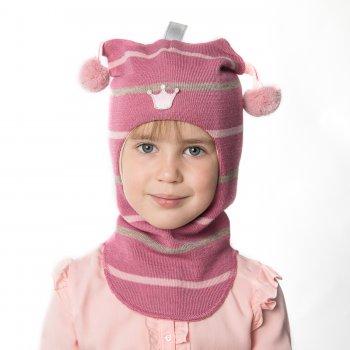 Kivat Шлем (розовый в полоску с помпонами и звездой) kivat шлем малиновый с помпонами и короной