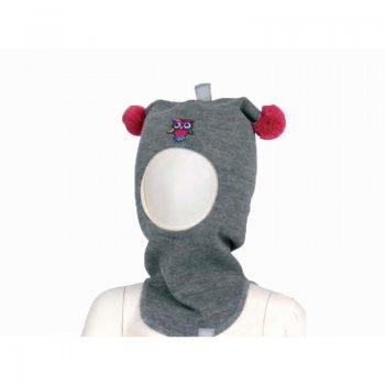 Шлем (серый с помпонами) от Kivat, арт: 46595 - Одежда