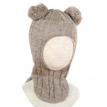 Шлем (серо-бежевый с помпонами)Одежда<br>; Размеры в наличии: 0, 1, 2, 3.<br>