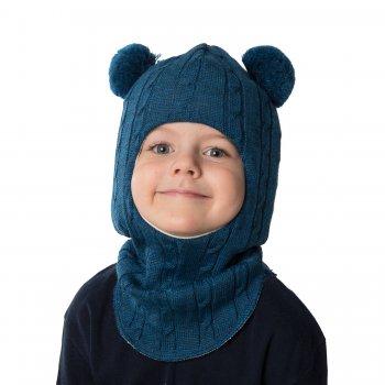 Шлем (сине-зеленый с помпонами)