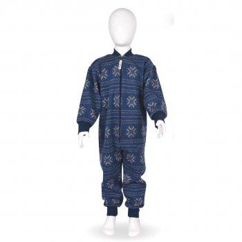 Комбинезон шерстяной (синий с принтом)Одежда<br>Описание<br>Характеристики:<br>Верх: 100% шерсть<br>Производитель: Kivat (Финляндия)<br>Страна производства: Финляндия<br>Коллекция Осень/Зима 2017<br>Температурный режим<br>От 0 до -20 градусов; Размеры в наличии: 80, 90, 100, 110, 120, 130, 140, 150.<br>