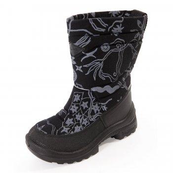 Сапоги Putkivarsi (черный с принтом)Обувь<br>; Размеры в наличии: 36, 37, 38, 39.<br>