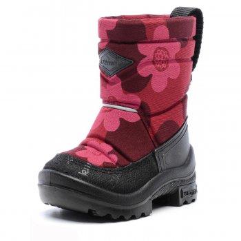 Сапоги Putkivarsi (бордовый с цветами)Обувь<br>; Размеры в наличии: 20, 21, 22, 23, 24, 25, 26.<br>