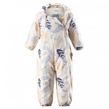 Комбинезон-трансформер (белый)Одежда<br>Материал<br>Верх: 100% полиэстер<br>Утеплитель: 80 грамм<br>Подкладка: хлопок джерси<br>Водонепроницаемость: 1000 мм<br>Паропроводимость: нет данных<br>Износостойкость: 15000 об. <br>Описание<br>Утепленный комбинезон для новорожденных бренда Lassie by Reima на температуру +5...+15. Легко превращается в конверт при помощи кнопок на подоле штанин и перестегивания молнии на шаговом шве. Комбинезон изготовлен из водоотталкивающего, ветронепроницаемого и дышащего материала, для максимального комфорта малыша. Капюшон не отстегивается, внутри мягкая подкладка-джерси. На рукавах отвороты. Две длинные молнии спереди комбинезона облегчают надевание.<br>Функциональные элементы: капюшон не отстегивается, регулируется по объему, манжеты на резинке, трикотажные регулируемые штрипки, две длинные молнии, отвороты на рукавах.<br>Производитель: Lassie (Финляндия)<br>Страна производства: Китай<br>Коллекция: Весна/Лето 2017<br>Модель производится в размерах: 62-74<br>Температурный режим<br>От +5 градусов и выше; Размеры в наличии: 62, 68, 74.<br>