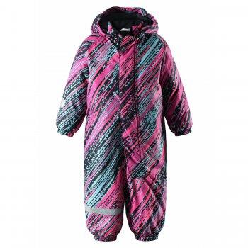 Комбинезон LassieTec (розовый полосатый)Комбинезоны<br>Комбинезон для малышей от 9 месяцев до 3 лет рассчитан на температуру от +5 до -10 градусов. Активным деткам комбинезон подойдет для прогулок  и при более низких температурах. Для дополнительного утепления также можно использовать флис. Модель разработана специально для малышей: свободный крой не сковывающей движений, длинная молния для удобства одевания, яркий принт. Манжеты и подол штанин на резинке препятствуют попаданию влаги внутрь. Водонепронецаемости 5000мм защитит ребенка от промокания, и сделает уход за одеждой простым и быстрым. При выборе размера, обратите внимание, что одежда Lassie  шьется с запасом на вырост 5-6 см. <br><br>   капюшон отстегивается с помощью кнопок, защитная планка молнии на липучке, защита подбородка от защемления, манжеты на резинке, подол штанин на резинке, съемные силиконовые штрипки, светоотражающие элементы, удлиненная молния.  <br> Верх: 100% полиэстер.<br> Утеплитель: 180 грамм (100% полиэстер)<br> Подкладка: 100% полиэстер<br> Водонепроницаемость: 5000 мм<br> Паропроводимость: 5000 г/м2/24ч<br> Износостойкость: 20000 об. <br> Производитель: Lassie (Финляндия)<br> Страна производства: Китай<br> Коллекция: Осень/Зима 2017<br> Модель производится в размерах: 74-98<br><br> Температурный режим <br> До -20 градусов для активных детей, для среднеактивных детей оптимальная температура носки от +5 до -10 градусов. <br>; Размеры в наличии: 74, 80, 86, 92, 98.<br>