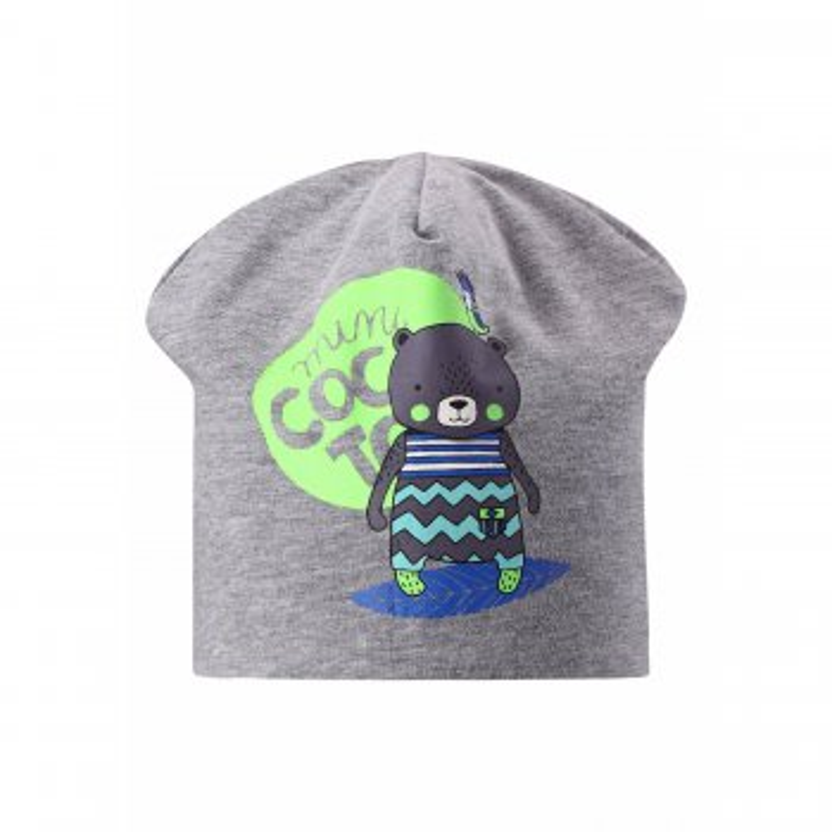Шапка (серый с мишкой)Одежда<br>; Размеры в наличии: M, S, XS.<br>