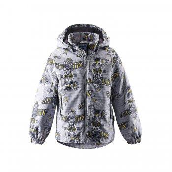 Куртка утепленная (серый с принтом)Куртки<br>; Размеры в наличии: 92, 98, 104, 110, 116, 122, 128, 134, 140.<br>