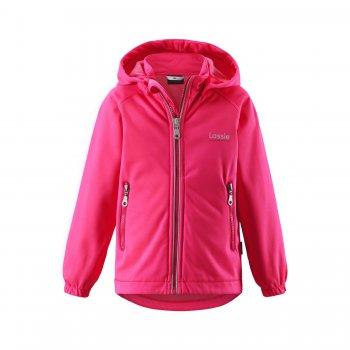 Куртка softshell (розовый)Куртки<br>Материал<br>Верх: 100% полиэстер<br>Утеплитель: нет<br>Подкладка: 100% полиэстер (флис)<br>Водонепроницаемость: 5000 мм<br>Паропроводимость: 3000 гм224ч.<br>Износостойкость: нет данных<br>Описание<br> Куртка без утеплителя для детей от 3-х до 10 лет от  известной финской марки Lassie, произведенная по технологии Softshell. Прекрасно подойдет на температуру от +7 градусов. Материал Softshell взял все лучшее от кофты и куртки: одежда прекрасно тянется во всех направлениях как кофта и, при этом, защищает от ветра и влаги, как куртка. Удлиненная спинка отлично защитит от продувания, а подкладка из мягкого флиса хорошо греет и приятна к телу. <br>Функциональные элементы: капюшон отстегивается с помощью кнопок, защита подбородка от защемления, карманы на молнии, манжеты на резинке, светоотражающие элементы. <br>Производитель: Lassie (Финляндия)<br>Страна производства: Китай<br>Коллекция: Весна/Лето 2017<br>Модель производится в размерах: 92-140<br>Температурный режим<br>От +10 градусов и выше; Размеры в наличии: 98, 104, 110, 116, 122, 128, 134, 140.<br>
