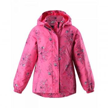 Куртка (розовый)Куртки<br>Материал<br>Верх: 100% полиэстер<br>Утеплитель: 80 грамм<br>Подкладка: 100% полиэстер<br>Водонепроницаемость: 1000 мм<br>Паропроводимость: нет данных<br>Износостойкость: 15000 об.<br>Описание<br> Куртка на межсезонье для девочек от 2  до 10 лет. Легкий утеплитель 80 грамм подойдет на температуру от 0 до +10 градусов. Приталенная модель хорошо садится по фигуре. Светоотражающие элементы позволяют видеть ребёнка в темноте. Удобная, комфортная и практичная куртка , несомненно, придётся по душе Вашему ребёнку.<br>Функциональные элементы: капюшон отстегивается с помощью кнопок, защитная планка молнии на липучке, защита подбородка от защемления, карманы без застежек, манжеты на резинке, светоотражающие элементы. <br>Производитель: Lassie (Финляндия)<br>Страна производства: Китай<br>Коллекция: Весна/Лето 2017<br>Модель производится в размерах: 92-140<br>Температурный режим<br>От 0 градусов и выше; Размеры в наличии: 92, 98, 104, 110, 116, 122, 128, 134, 140.<br>