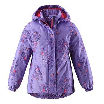 Куртка (сиреневый)Куртки<br>Куртка на межсезонье для девочек от 2  до 10 лет. Легкий утеплитель 80 грамм подойдет на температуру от 0 до +10 градусов. Приталенная модель хорошо садится по фигуре. Светоотражающие элементы позволяют видеть ребёнка в темноте. Удобная, комфортная и практичная куртка , несомненно, придётся по душе Вашему ребёнку.<br><br> Производитель: Lassie (Финляндия)<br> Страна производства: Китай<br> Коллекция: Весна/Лето 2017<br> Модель производится в размерах: 92-140<br>   капюшон отстегивается с помощью кнопок, защитная планка молнии на липучке, защита подбородка от защемления, карманы без застежек, манжеты на резинке, светоотражающие элементы.  <br> Верх: 100% полиэстер<br> Утеплитель: 80 грамм<br> Подкладка: 100% полиэстер<br> Водонепроницаемость: 1000 мм<br> Паропроводимость: нет данных<br> Износостойкость: 15000 об.<br><br> Температурный режим <br> От 0 градусов и выше; Размеры в наличии: 92, 98, 104, 110, 116, 122, 128, 134, 140.<br>