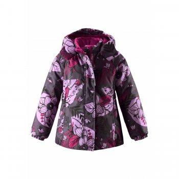 Куртка (фиолетовый с цветами)Куртки<br>; Размеры в наличии: 98, 104, 110, 116, 122, 128, 134, 140.<br>