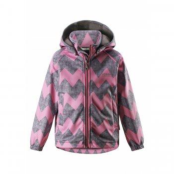 Куртка Softshell (серый с розовым)