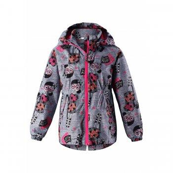 Купить со скидкой Куртка-ветровка (серый с куклами)