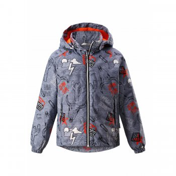 Куртка утепленная (серый техас)Куртки<br>Описание: <br>Куртка фирмы Lassie с очень оригинальным принтом привлечет внимание мальчишек. В ней есть все необходимое для весенних прогулок. <br>Манжеты на резинке создадут дополнительную защиту от непогоды, а капюшон на кнопках и светоотражающие элементы обезопасят мальчика в вечернее время.<br>Функциональные элементы: капюшон отстегивается с помощью кнопок, защита подбородка от защемления, карманы на молнии, манжеты на резинке, утяжка по подолу, светоотражающие элементы. <br>Характеристики: <br>Верх: 100% полиэстер<br>Утеплитель: 80 грамм (100% полиэстер).<br>Подкладка: 100% полиэстер<br>Водонепроницаемость: 1000 мм<br>Паропроводимость: 2000 г/м2/24ч<br>Износостойкость: 20000 об.<br>Производитель: Lassie (Финляндия)<br>Страна производства: Китай<br>Модель производится в размерах: 92-140<br>Коллекция: Весна-Лето 2018<br>Температурный режим: <br>От 0 градусов и выше.; Размеры в наличии: 92, 98, 104, 110, 116, 122, 128, 134, 140.<br>