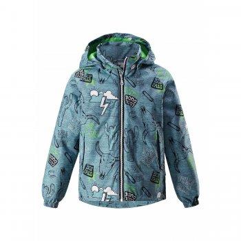 Куртка утепленная (зеленый техас)Куртки<br>Куртка фирмы Lassie с очень оригинальным принтом привлечет внимание мальчишек. В ней есть все необходимое для весенних прогулок. <br>Манжеты на резинке создадут дополнительную защиту от непогоды, а капюшон на кнопках и светоотражающие элементы обезопасят мальчика в вечернее время.<br><br>   капюшон отстегивается с помощью кнопок, защита подбородка от защемления, карманы на молнии, манжеты на резинке, утяжка по подолу, светоотражающие элементы.   Верх: 100% полиэстер<br> Утеплитель: 80 грамм (100% полиэстер).<br> Подкладка: 100% полиэстер<br> Водонепроницаемость: 1000 мм<br> Паропроводимость: 2000 г/м2/24ч<br> Износостойкость: 20000 об.<br> Производитель: Lassie (Финляндия)<br> Страна производства: Китай<br> Модель производится в размерах: 92-140<br> Коллекция: Весна-Лето 2018<br><br> Температурный режим <br> От 0 градусов и выше.; Размеры в наличии: 92, 98, 104, 110, 116, 122, 128, 134, 140.<br>