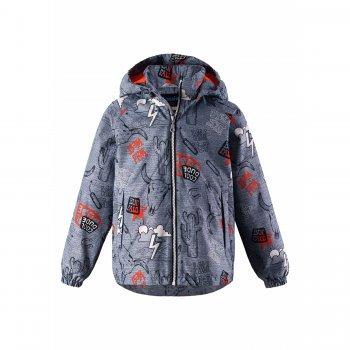 Куртка-ветровка (серый техас)Куртки<br>Описание: <br><br>Функциональные элементы: капюшон отстегивается с помощью кнопок, защита подбородка от защемления, карманы на липучке, манжеты на резинке. <br>Характеристики: <br>Верх: 100% полиэстер<br>Утеплитель: нет<br>Подкладка: 100% полиэстер (mesh-сетка)<br>Водонепроницаемость: 1000 мм<br>Паропроводимость: 2000 г/м2/24ч<br>Износостойкость: 20000 об.<br>Производитель: Lassie (Финляндия)<br>Страна производства: Китай<br>Модель производится в размерах: 92-140<br>Коллекция: Весна-Лето 2018<br>Температурный режим: <br>От +10 градусов и выше.; Размеры в наличии: 92, 98, 104, 110, 116, 122, 128, 134, 140.<br>