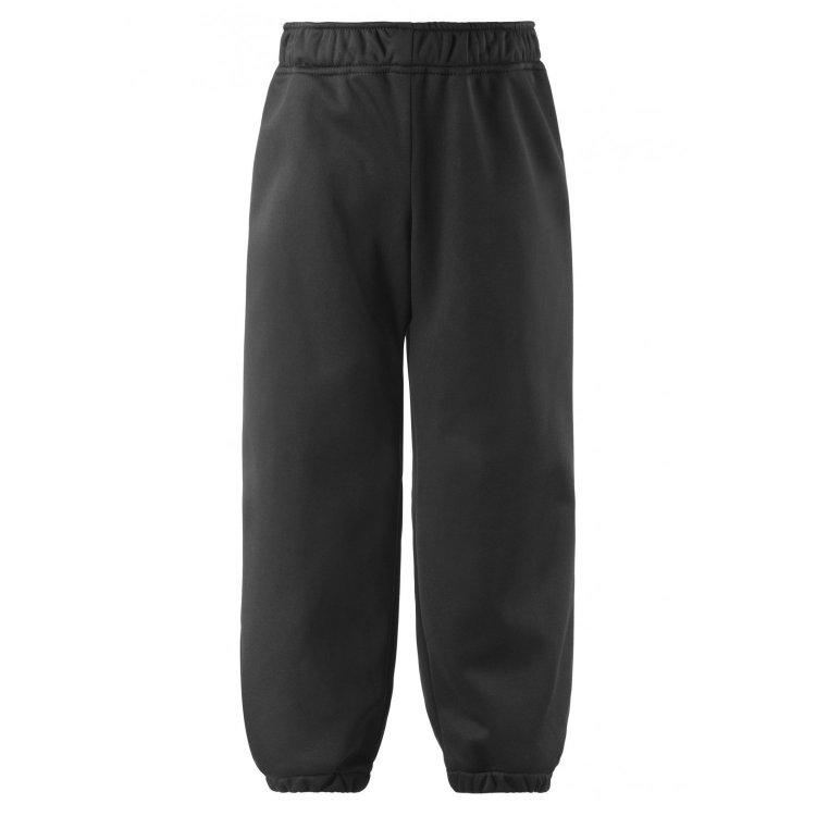 Брюки Softshell (черный)Полукомбинезоны, штаны<br>Описание<br>Удобные детские брюки softshell на весенне-осенний сезон. Функциональный материал не пропускает ветер, но при этом дышит. У этой модели прямого покроя эластичная талия и эластичные манжеты на брючинах.Подкладка-флис.<br>Функциональные элементы: пояс на резинке, подол штанин на резинке,  светоотражающие элементы.<br>Характеристики<br>Верх: 100% полиэстер<br>Утеплитель: нет<br>Подкладка: 100% полиэстер (флис)<br>Водонепроницаемость: 5000 мм<br>Паропроводимость: 3000 гм224ч.<br>Износостойкость: нет данных<br>Производитель: Lassie (Финляндия)<br>Страна производства: Китай<br>Коллекция: Весна/Лето 2017<br>Модель производится в размерах: 92-140<br>Температурный режим<br>От +7 градусов и выше; Размеры в наличии: 98, 104, 110, 116, 122, 128, 134, 140.<br>