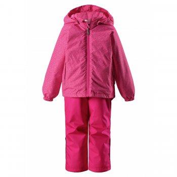 Комплект утепленный (розовый)Комбинезоны<br>Описание: <br>Яркий комплект на холодную весну для детей до 10 лет (рост 140 см). Одежда Ласси отличается отличным сочетанием цены и качества, благодаря сокращению дополнительных функциональных элементов производителю удалось добиться по настоящему привлекательной цены. <br>Модель отлично подойдет для прогулок при температуре от 0 до +10 градусов активным деткам и от +5 до +15 спокойным, малоактивным малышам. <br>Ласси заботится не только о комфорте, но и о безопасности ребенка: яркие расцветки позволяет легко увидеть ребенка в толпе, светоотражающие детали делают ребенка более заметным на дороге и в темное время суток, капюшон на кнопках легко отстегнется, если малыш за что-то зацепится.<br>Функциональные элементы: капюшон отстегивается с помощью кнопок,защита подбородка от защемления, карманы на липучке, манжеты на резинке. Брюки: регулируемые лямки, отстегивающиеся лямки, пояс на резинке, карманы на липучке, подол штанин с утяжкой с фиксатором.<br>Характеристики: <br>Верх: 100% полиэстер<br>Утеплитель: куртка- 80 грамм (100% полиэстер), брюки- 80 грамм (100% полиэстер)<br>Подкладка: 100% полиэстер<br>Водонепроницаемость: 1000 мм<br>Паропроводимость: 2000 г/м2/24ч<br>Износостойкость: верх 20000 об., брюки 50000 об.<br>Производитель: Lassie (Финляндия)<br>Страна производства: Китай<br>Модель производится в размерах: 92-140<br>Коллекция: Весна-Лето 2018<br>Температурный режим: <br>От 0 градусов и выше.; Размеры в наличии: 92, 98, 104, 110, 116, 122, 128, 134, 140.<br>