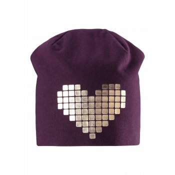 Шапка (фиолетовый с сердцем)Одежда<br>; Размеры в наличии: S, M, L.<br>