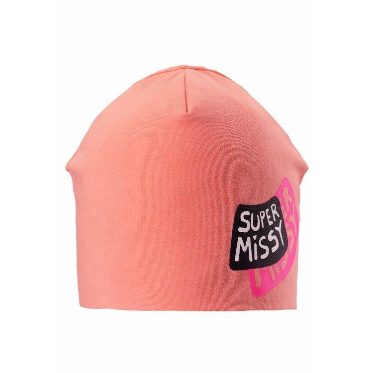 Шапка (оранжевый)Одежда<br>Хлопковая шапочка для теплого межсезонья и лета. Она защитит ребенка от не сильного ветра и станет отличным дополнением образа!   Верх: 95% хлопок, 5% эластан<br> Утеплитель: нет<br> Подкладка: 95% хлопок, 5% эластан<br> Производитель: Lassie (Финляндия)<br> Страна производства: Китай<br> Модель производится в размерах: S-L<br> Коллекция: Весна-Лето 2018<br><br> Температурный режим <br> От +7 градусов и выше.; Размеры в наличии: S, M, L.<br>