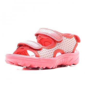 Сандалии (розовый)Обувь<br>Легкие, удобные, практичные детские сандалии - отличный вариант на лето. Благодаря двум ремешкам на липучке их удобно надевать и можно отрегулировать нужную полноту. Не требуют особого ухода, их легко можно стирать в машине при 30 °C.<br><br> Производитель: Lassie (Финляндия)<br> Страна производства: Китай<br> Коллекция: Весна/Лето 2017<br> Модель производится в размерах: 22-35<br>  <br> Верх: текстиль<br> Утеплитель: нет<br> Подкладка: лайкра<br> Подошва: ЭВА<br><br> Температурный режим <br> От +15 градусов и выше; Размеры в наличии: 22, 23, 24, 25, 26, 27, 28, 29, 30, 31, 32, 33, 34, 35.<br>
