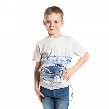 Футболка (серый с принтом)Одежда<br>Материал<br>Верх: 100% хлопок<br>Описание<br>Однотонная стильная футболка для мальчиков от 2 до 9 лет выполнена из чистого хлопка. Модель украшена принтом с изображением автомобиля, прекрасно дополнит повседневный образ ребенка.<br>Производитель: MAYORAL (Испания)<br>Страна производства: Индия<br>Коллекция: Весна/Лето 2017<br>Модель производится в размерах: 2-9 лет; Размеры в наличии: 2, 3, 4, 5, 6, 7, 8, 9.<br>