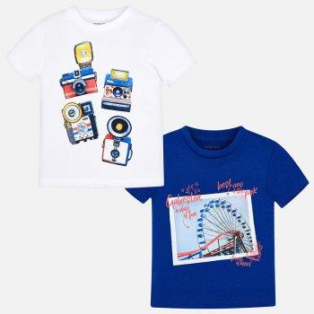 Mayoral Комплект из 2-х футболок (синий с белым) комплект футболок 2 шт freestyle revolution комплект футболок 2 шт