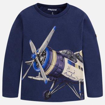 Купить Лонгслив (синий с самолетом), Mayoral