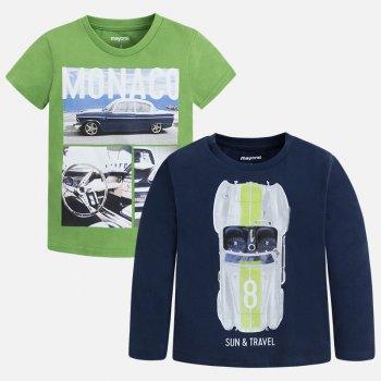 Комплект: футболка, лонгслив (салатовый, синий)Одежда<br>; Размеры в наличии: 2, 3, 4, 5, 6, 7, 8, 9.<br>
