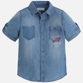 Mayoral Рубашка (синий) рубашка с рисунком сзади 3 12 лет