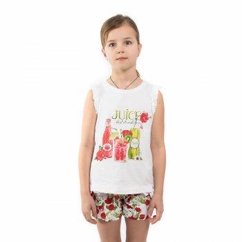 Комплект: майка, шорты (белый с маками)Одежда<br>Удобный комплект из маечки и шортов. Подойдет для дома, садика и летних прогулок. На маечке аппетитный рисунок с фрешами, а шортики украшены цветочками.   Верх: 95% хлопок, 5% эластан<br> Производитель: MAYORAL (Испания)<br> Страна производства: Индия<br> Модель производится в размерах: 2-9 лет<br> Коллекция: Весна/Лето 2018<br>; Размеры в наличии: 2, 3, 4, 5, 6, 7, 8, 9.<br>
