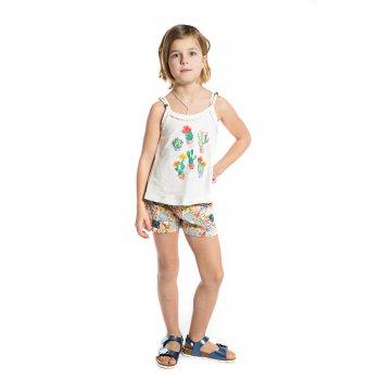 Mayoral Комплект: майка, шорты (белый с разноцветными шортами ) комплект из 2 пижам с принтом 3 12 лет