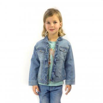 Куртка джинсовая (голубой с оборками) от Mayoral, арт: 32176 - Одежда