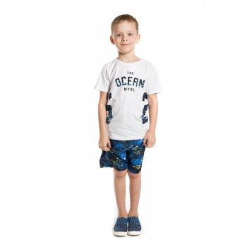 Комплект: футболка, плавательные шорты (белый с синим)Одежда<br>Материал<br>Верх: футболка: 100% хлопок, шорты: 100% полиэстер<br>Описание<br>Комплект для мальчиков от 2 до 9 лет включает в себя футболку и плавательные шорты. Однотонная футболка выполнена из чистого хлопка и украшена принтом с надписями, шорты  прекрасно подойдут как для купания так и для городских прогулок, выполнены из быстросохнущего материала и дополнены широкой резинкой с декоративной завязкой на поясе.<br>Производитель: MAYORAL (Испания)<br>Страна производства: Индия<br>Коллекция: Весна/Лето 2017<br>Модель производится в размерах: 2-9 лет; Размеры в наличии: 2, 3, 4, 5, 6, 7, 8, 9.<br>