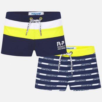 Mayoral Комплект из 2-х плавок (синий с желтым) комплект из 2 пижам с принтом 3 12 лет