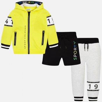 Mayoral Спортивный костюм: толстовка, брюки, шорты (желтый с серым) брюки дудочки 7 8 с рисунком