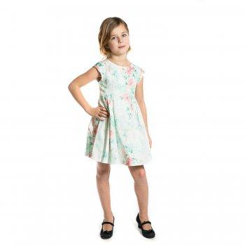 Платье (белый с цветами)Одежда<br>Платье из плотной ткани для девочки от испанского бренда Mayoral. Произведено в размерах 2-9 лет. Нежный цветочный принт, ромбовидный вырез и бант на спинке. Подкладка создает дополнительный объем нижней части платья. Застегивается на скрытую молнию на спинке. <br> Производитель: MAYORAL (Испания)<br> Страна производства: Марокко<br> Коллекция: Весна/Лето 2017<br> Модель производится в размерах: 2-9 лет  <br> Верх: 97 % хлопок, 3% эластан. Нижний слой: 65% полиэстер, 35% хлопок<br>; Размеры в наличии: 2, 3, 4, 5, 6, 7, 8, 9.<br>