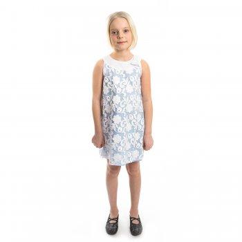 Платье (голубой)Одежда<br>Материал<br>Верх: 100% полиэстер<br>Подкладка: 84% вискоза, 16% полиамид<br>Описание<br>Производитель: MAYORAL (Испания)<br>Страна производства: Китай<br>Коллекция: Весна/Лето 2016<br>Модель производится в размерах: 2-9 лет<br>; Размеры в наличии: 2, 3, 4, 5, 6, 7, 8, 9.<br>