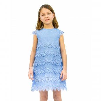 Платье (голубой)Одежда<br>Материал<br>Верх: 100% полиэстер<br>Подкладка: 85% полиэстер 15% хлопок<br>Описание<br>Производитель: MAYORAL (Испания)<br>Страна производства: Китай<br>Коллекция: Весна/Лето 2016<br>Модель производится в размерах: 2-9 лет<br>; Размеры в наличии: 2, 3, 4, 5, 6, 7, 8, 9.<br>