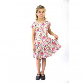 Платье ( белый с цветами)