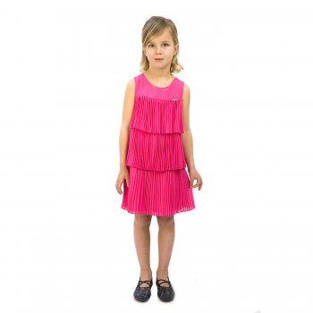 Платье с воланами (розовый)