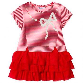 Платье (красный в полоску)Одежда<br>Описание: <br><br>Характеристики: <br>Верх:50% полиэстер, 48% хлопок, 2% эластан<br>Производитель: MAYORAL (Испания)<br>Страна производства: Бангладеш<br>Модель производится в размерах: 2-9 лет<br>Коллекция: Весна/Лето 2018; Размеры в наличии: 2, 3, 4, 5, 6, 7, 8, 9.<br>